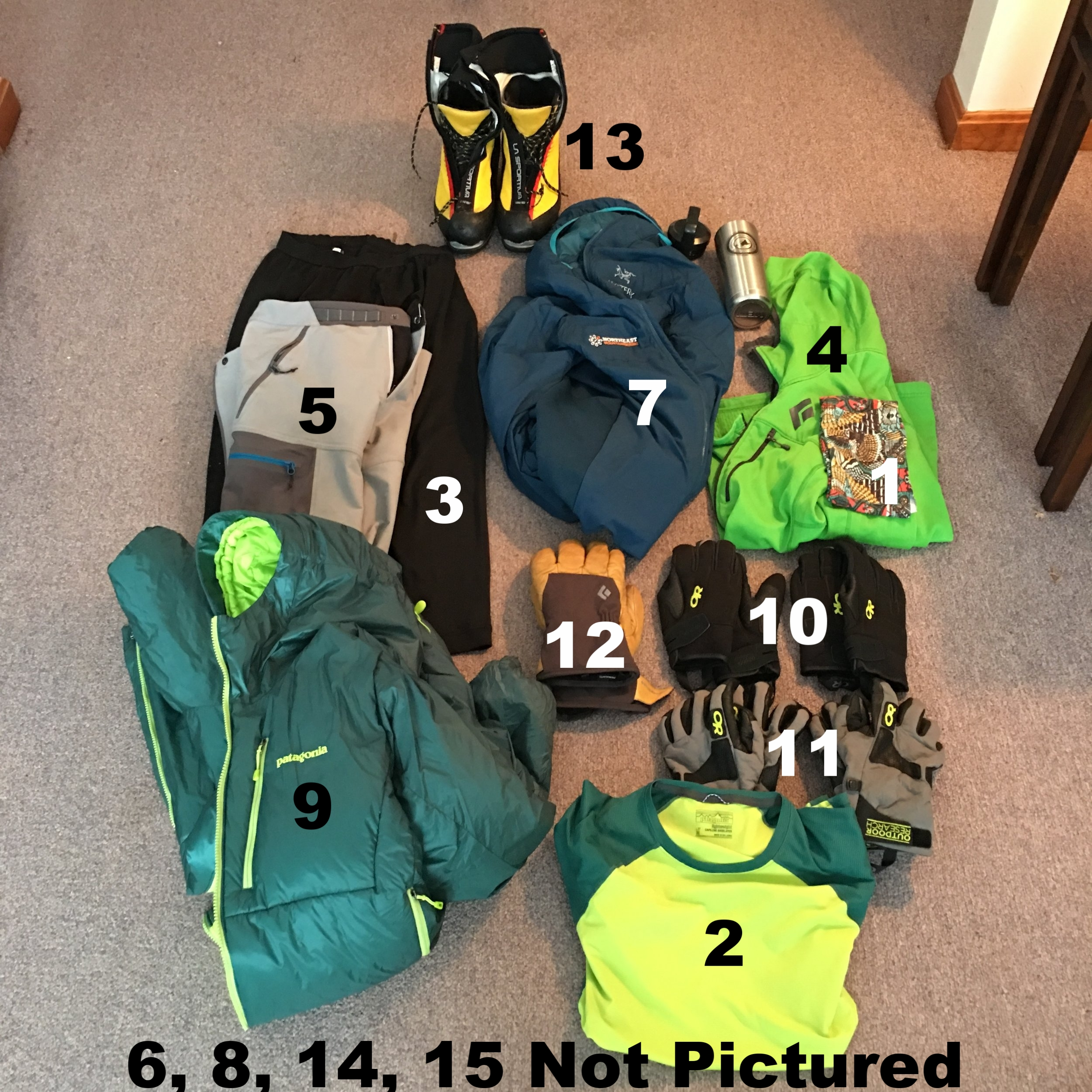 Coby's 2016-2017 Ice Climbing Clothing Kit