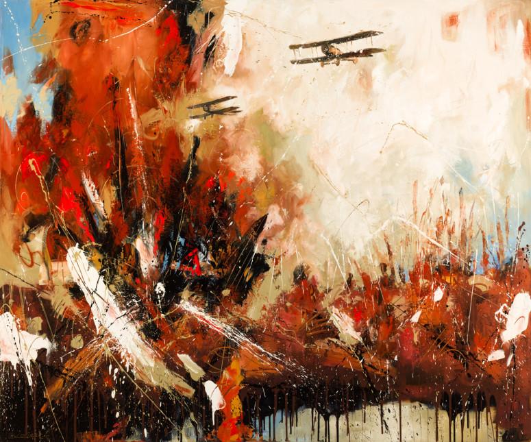 """Air Strike (60"""" x 72"""")"""