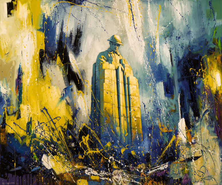 """Brooding Soldier (60"""" x 72"""")"""