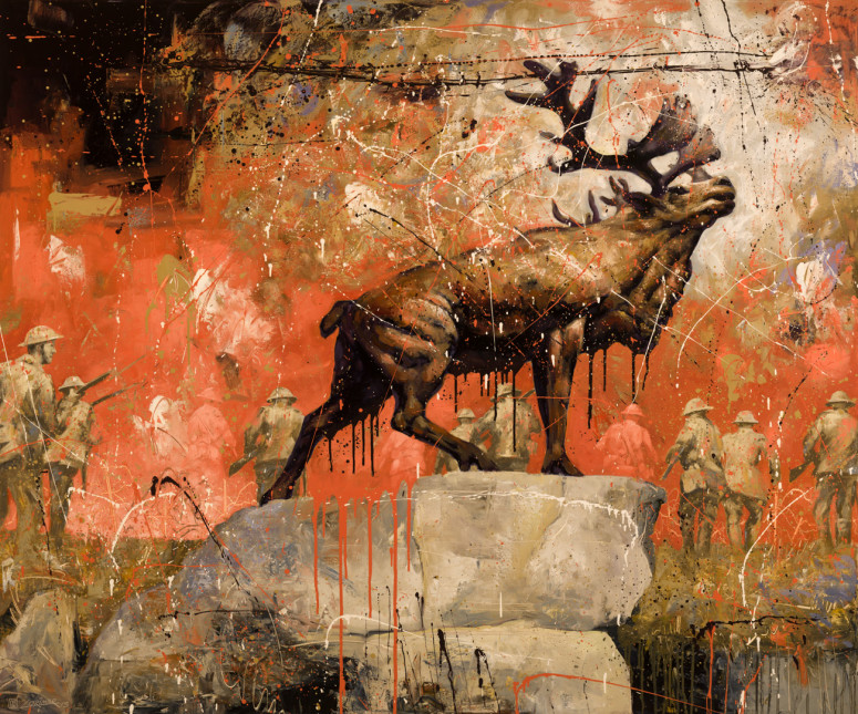 """Fall of the Caribou (60"""" x 72"""")"""