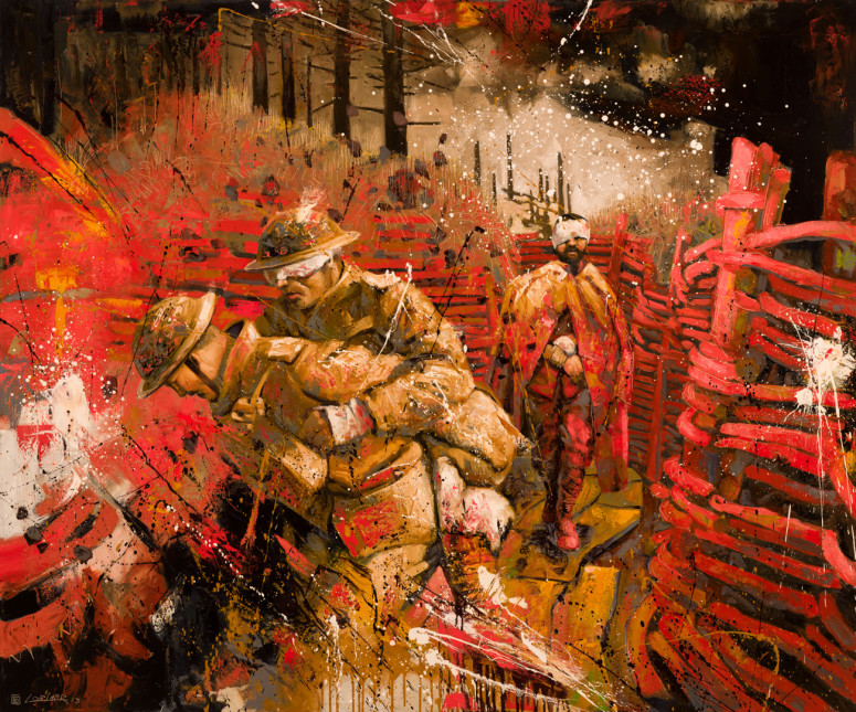"""Slaughter at the Somme (60"""" x 72"""")"""
