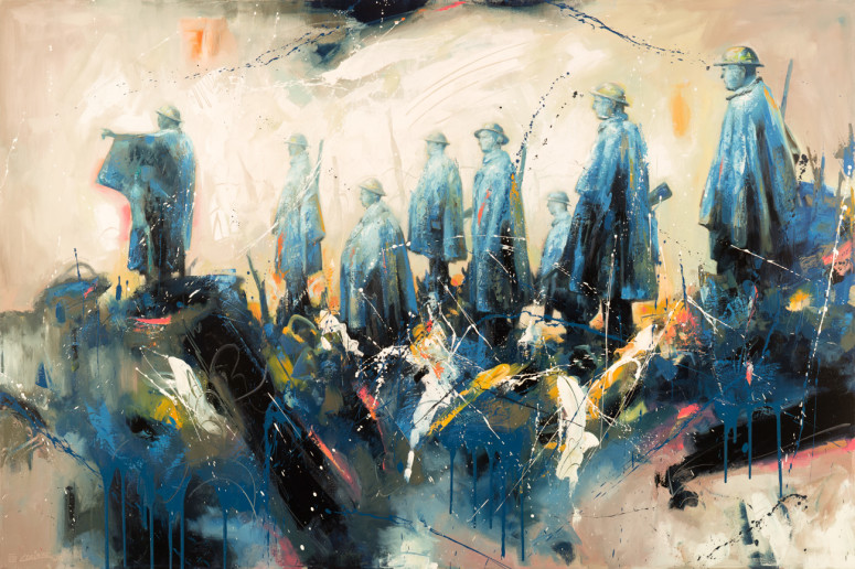 """Ghost Point (48"""" x 72"""")"""
