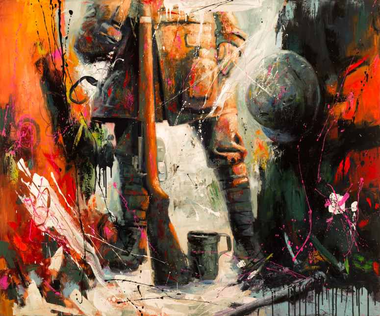 """Ready for Battle (60"""" x 72"""")"""