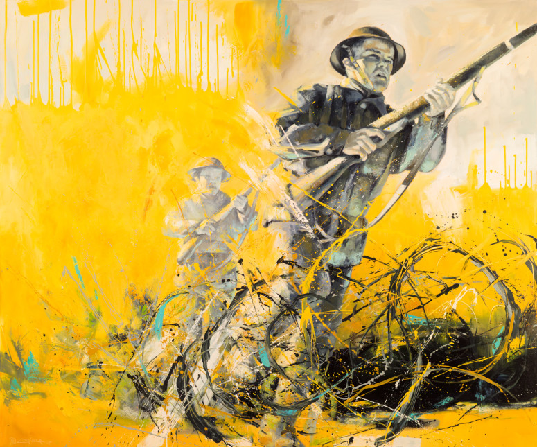 """The Charge (60"""" x 72"""")"""