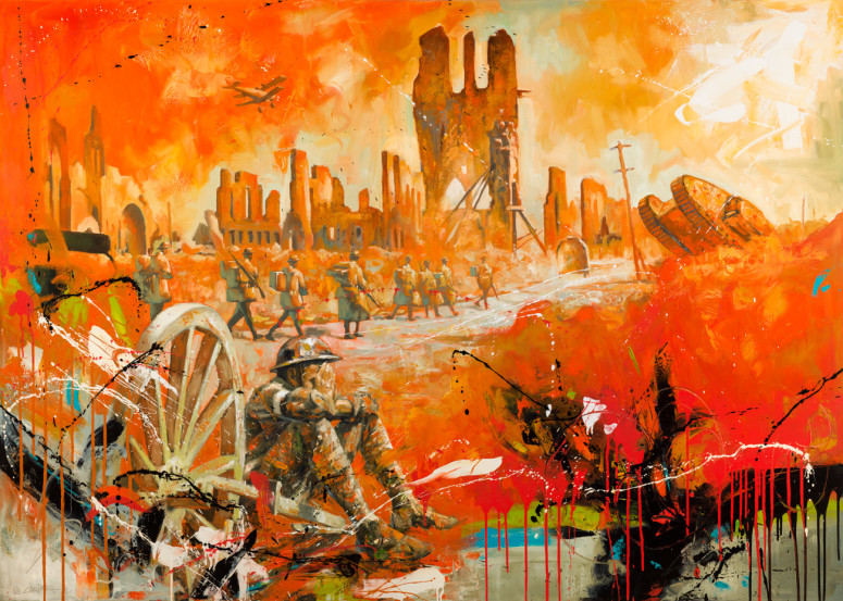 """The Taking of Ypres (60"""" x 84"""")"""
