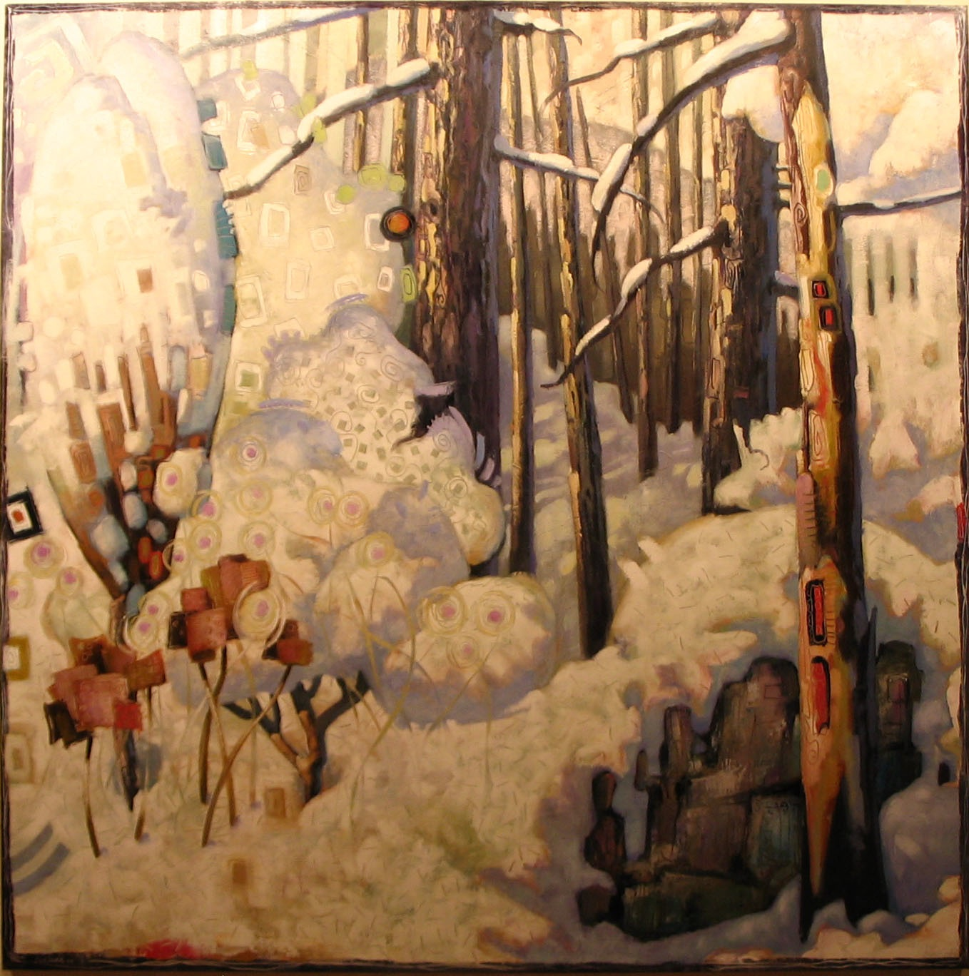 "Winter Snow (60"" x 60"")"