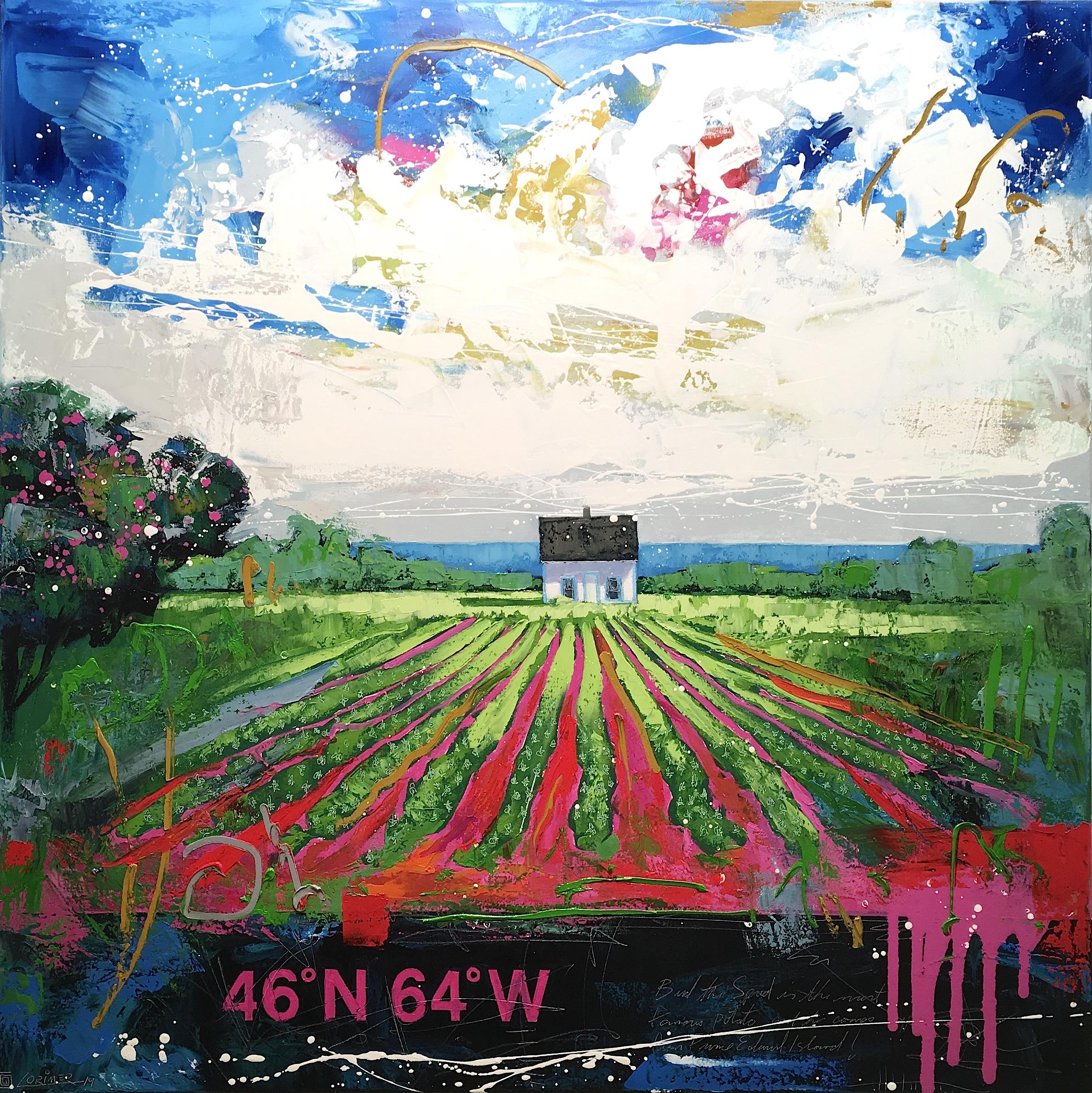 """46ºN 64ºW - Potato Field (40"""" x 40"""")"""
