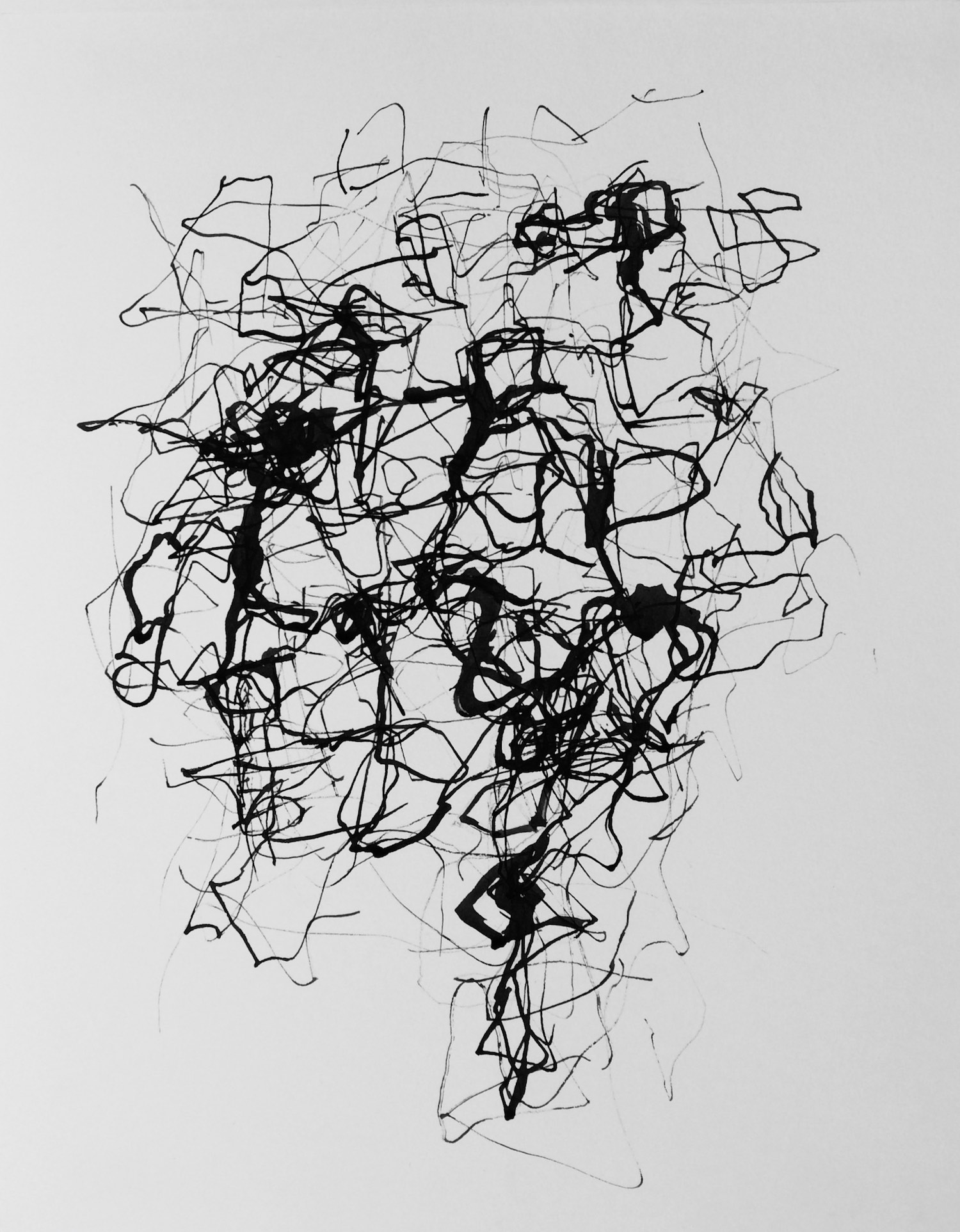 Moving Forms (7)    505x380mm (19.9x14.9in)  Ink on paper