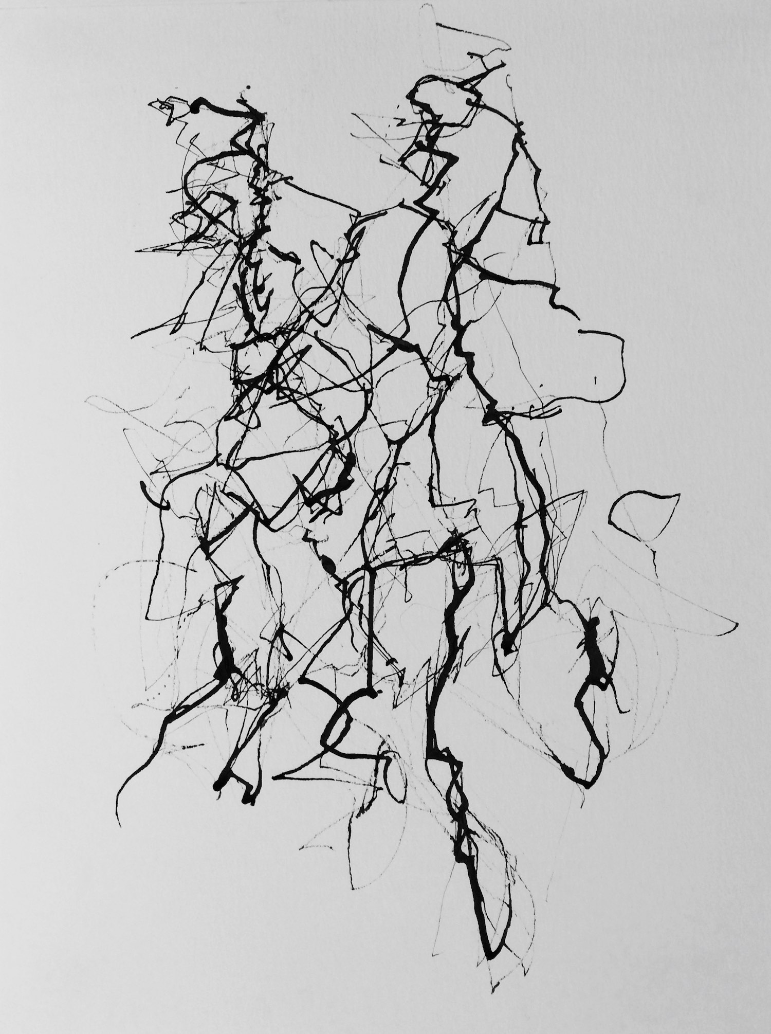 Moving Forms (7/12)    505x380mm (19.9x14.9in)  Ink on paper