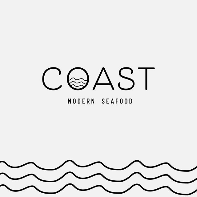 This conceptual restaurant brand, Coast Modern Seafood, was born in an unlikely way. ✨ -  While working on a property brochure for a commercial real estate client looking to lease a former restaurant space, we created a conceptual restaurant rendering of the exterior storefront. As the restaurant logo idea began to take shape, I fell in love with it and was inspired to explore it further! 🌊 ✨ -  Sometimes inspiration strikes when you're least expecting it! As a creative I've learned to embrace it whenever or however it comes.