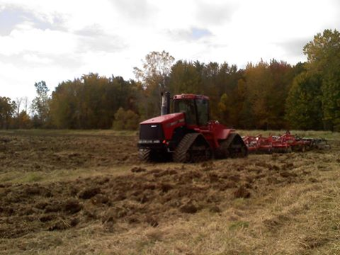 Preparation for the new track.  Fall 2012