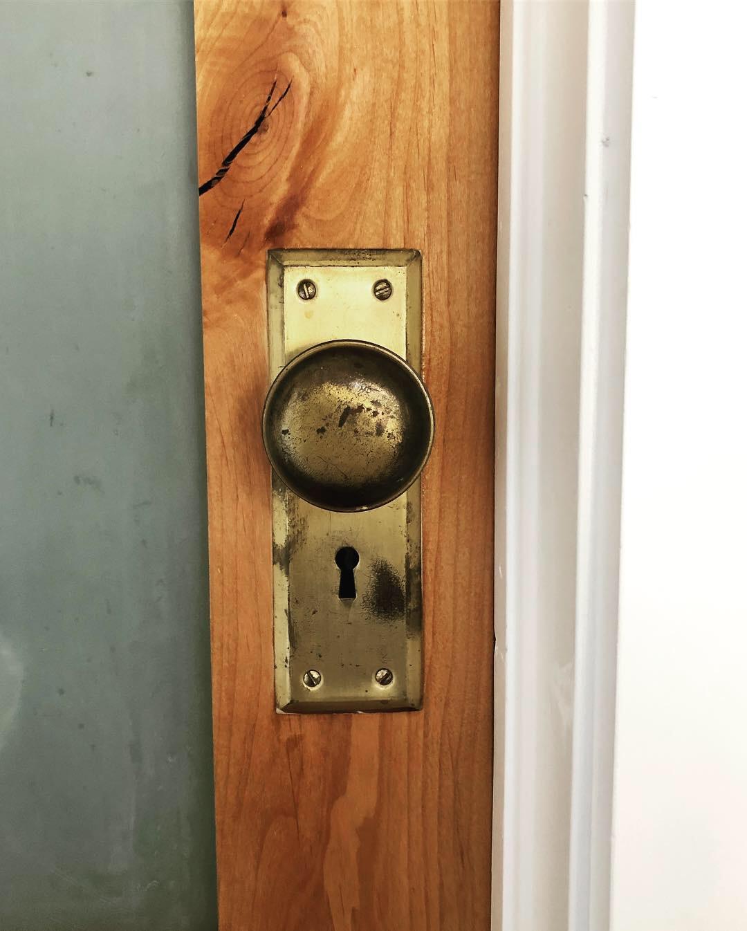 Vintage Brass Doorknob