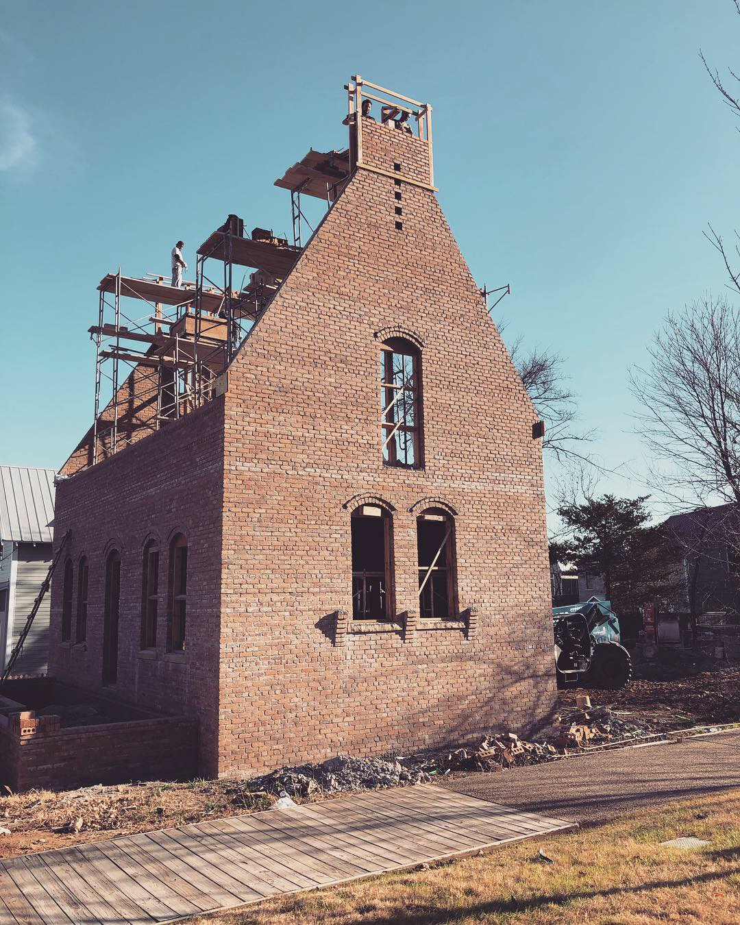 A solid brick masonry home by Building Culture - Structural Masonry