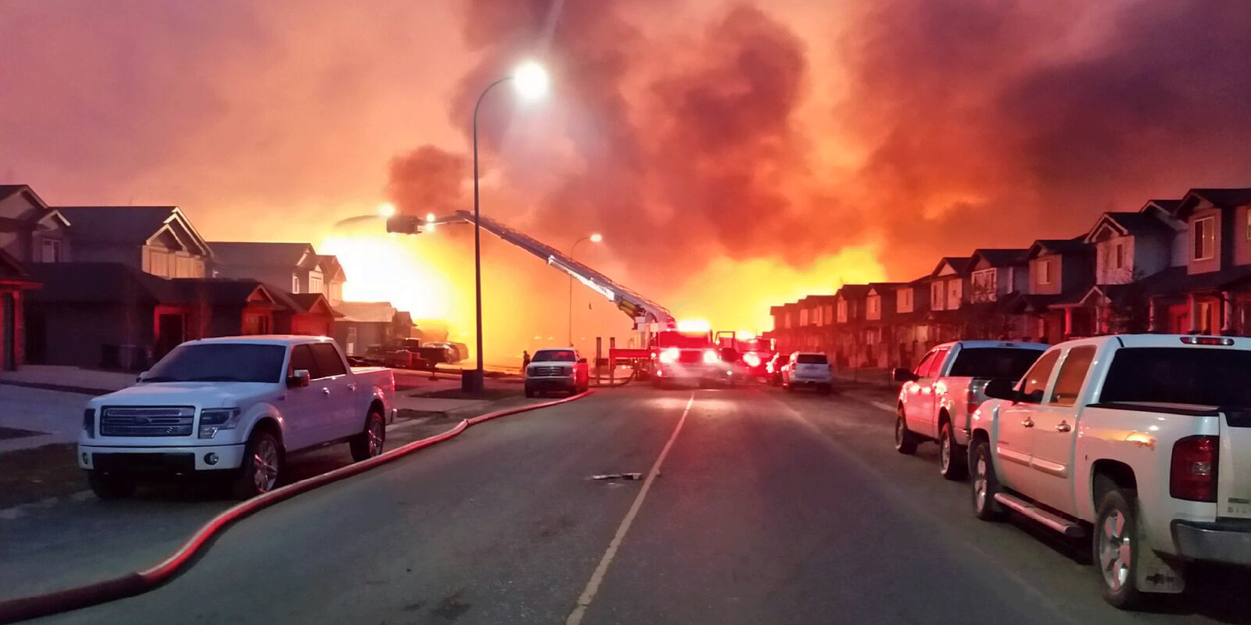 On May 1, 2016, a  wildfire  began southwest of  Fort McMurray ,  Alberta ,  Canada . On May 3, it swept through the community, forcing the largest wildfire evacuation in  Alberta's history ,