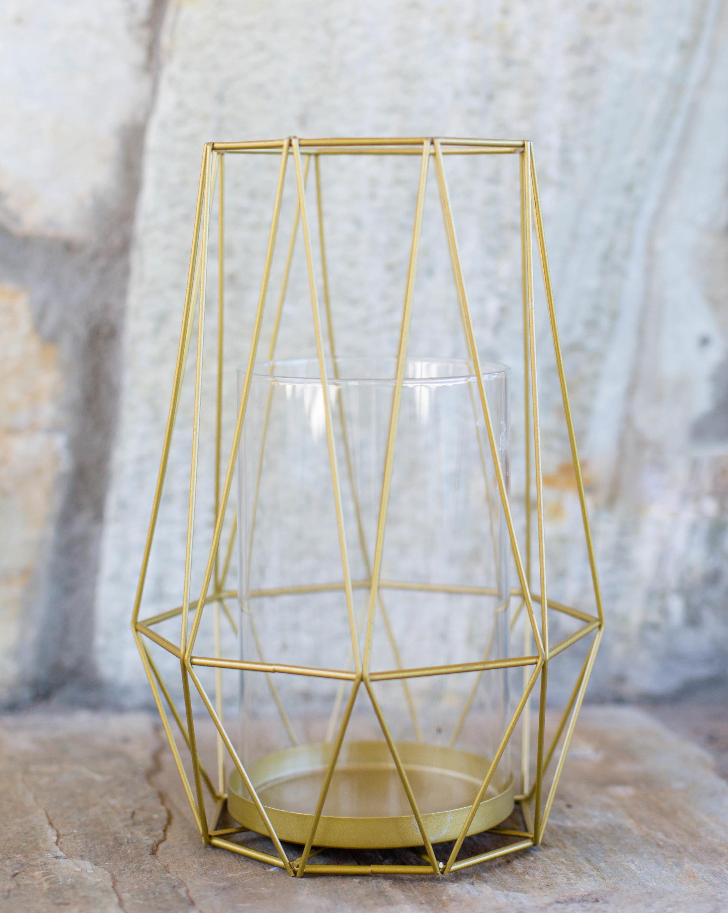 Gold Diamond Metal Hurricane Candleholder.jpg