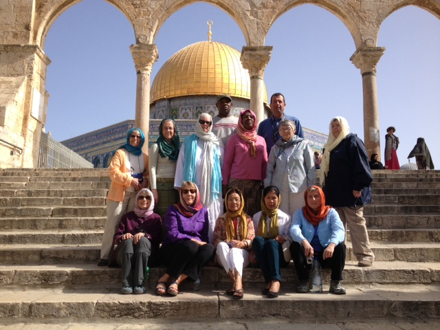 Sitting in the presence of the Dome of the Rock.