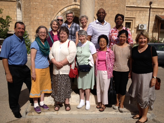 The last Sunday morning: the group attended Eucharist at St George cathedral withThe Right Rev. S. Dawani, the Anglican Bishop in Jerusalem.