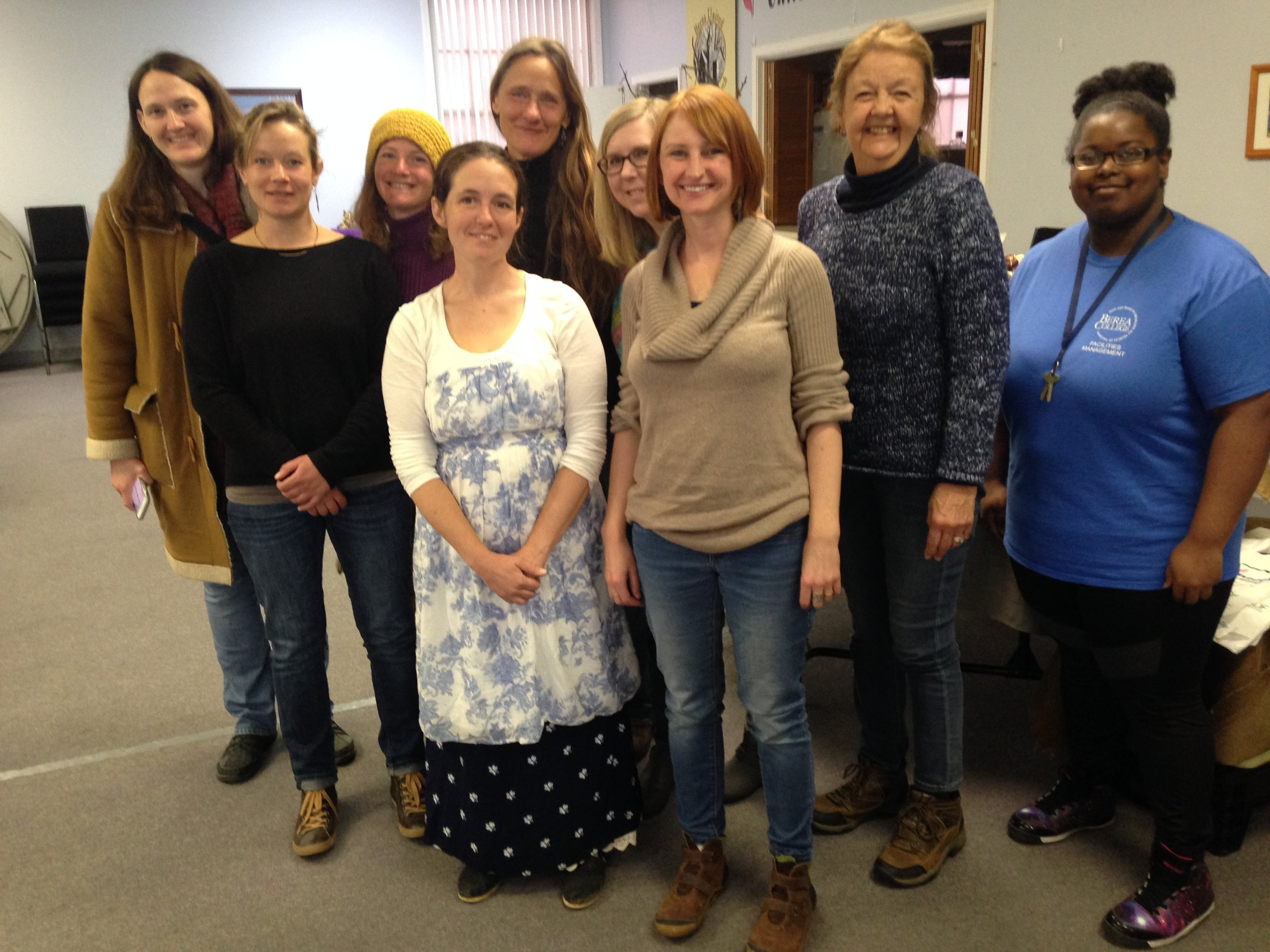 Here are just a handful of our Berea Farmers Market cooperative members and board members from left to right; Amber Flindt (community board member), Tabea Wolf-Fourman (vendor and board president), Xyara Asplen (vendor), Laurie White (vendor and vice president board member), Susana Lein (vendor), Julie Dalton (community board member), Faye Adams-Eaton (manager), Lynne Gagliardi (vendor) and Jasmine McClain our wonderful volunteer!