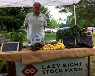 "Lazy Eight Stock Farm - Baumann Family""We strive to grow as good a product as we can and leave the ground in a better condition than it was in before we planted""-Certified Organic vendor, their products are seasonal produce(Strawberries, beets, broccoli, etc.)-Currently attends the Saturday Market"