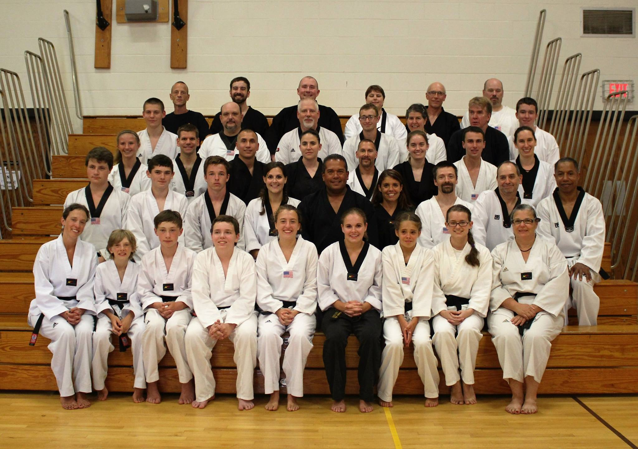 Black belts of YBBA that were able to be there