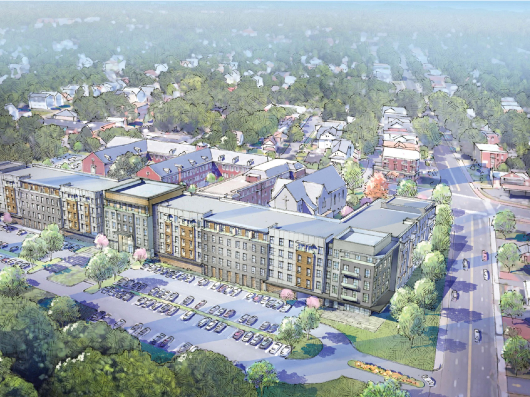 One Park Road - Lexington Partners, LLC – West Hartford, CTDeveloped and implemented the successful neighborhood outreach and engagement plan for the $60 million redevelopment of the Sisters of Saint Joseph Convent to 294 market-rate apartments. Project unanimously approved by the West Hartford Town Council.