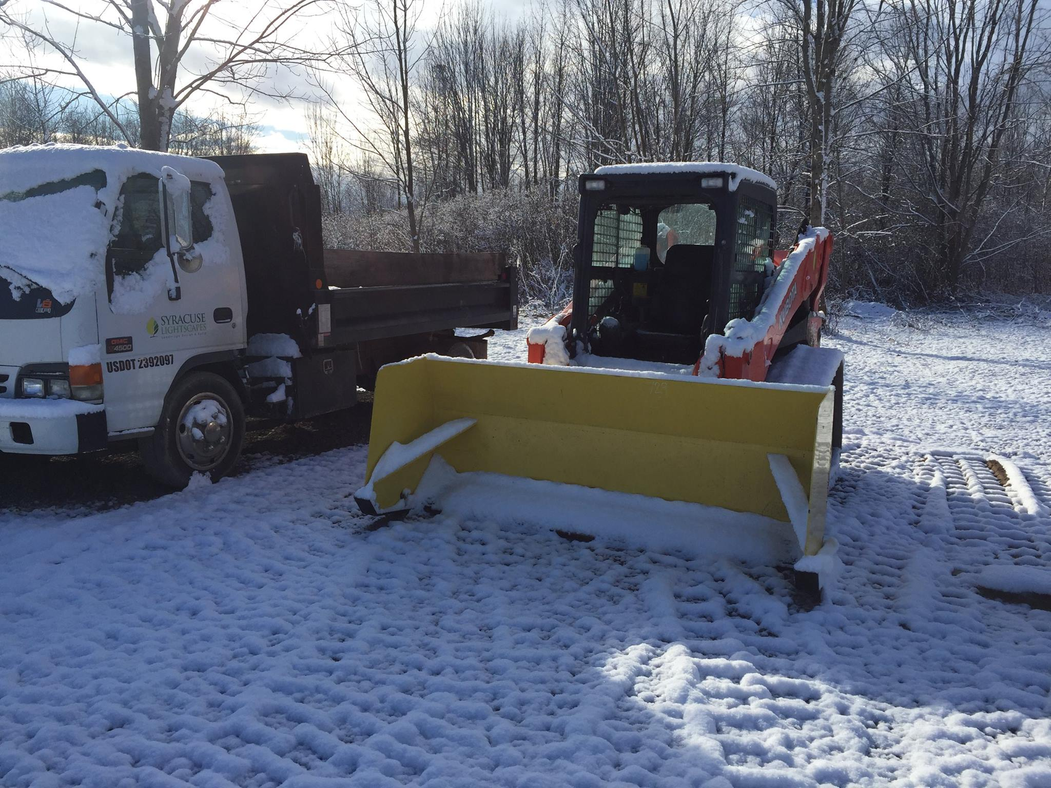 SNOW pushers  To service larger commercial lots.