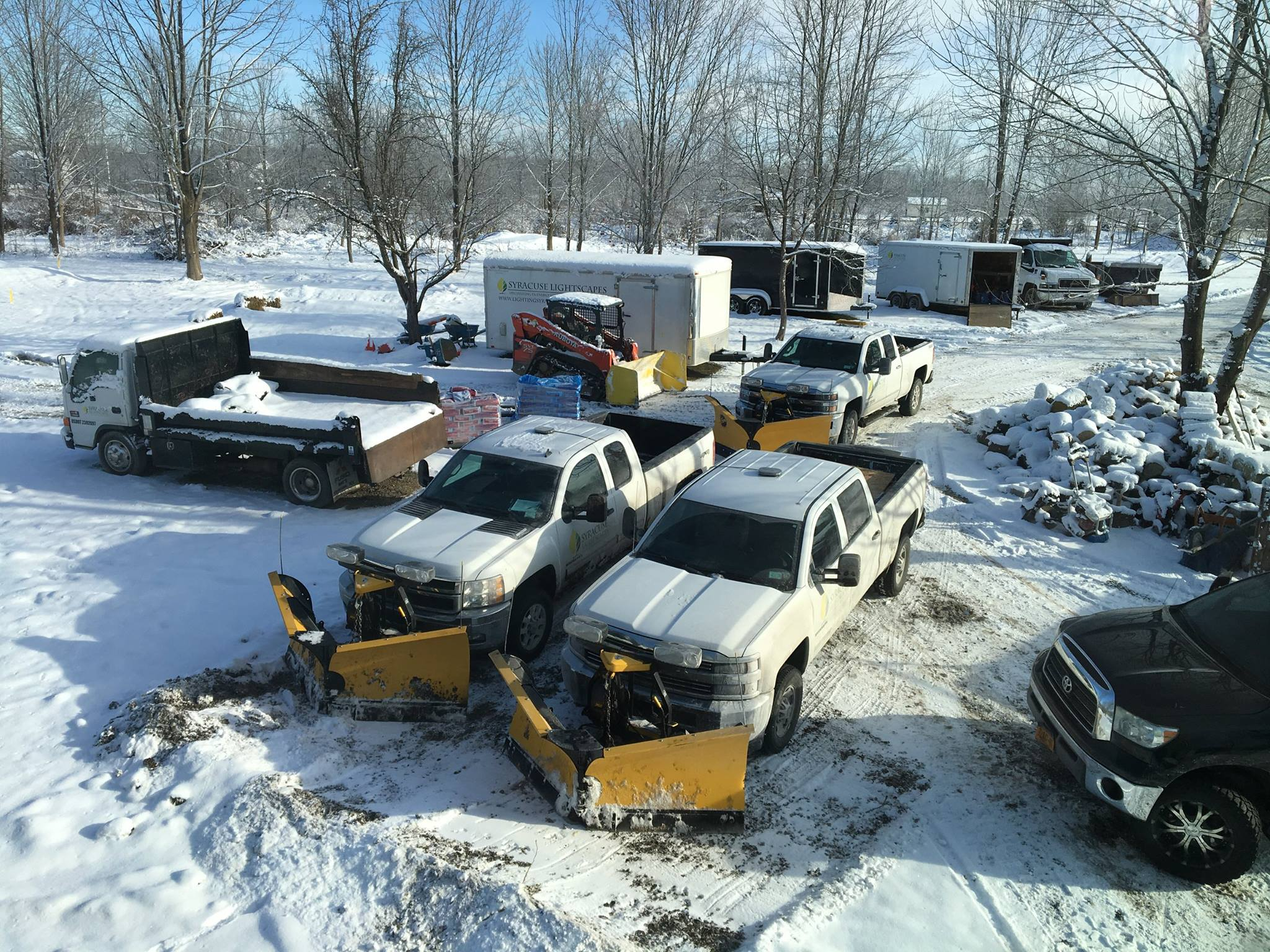 Back-up trucks  We have back-up trucks available in the event one of our trucks goes down. It will not compromise our service standards.