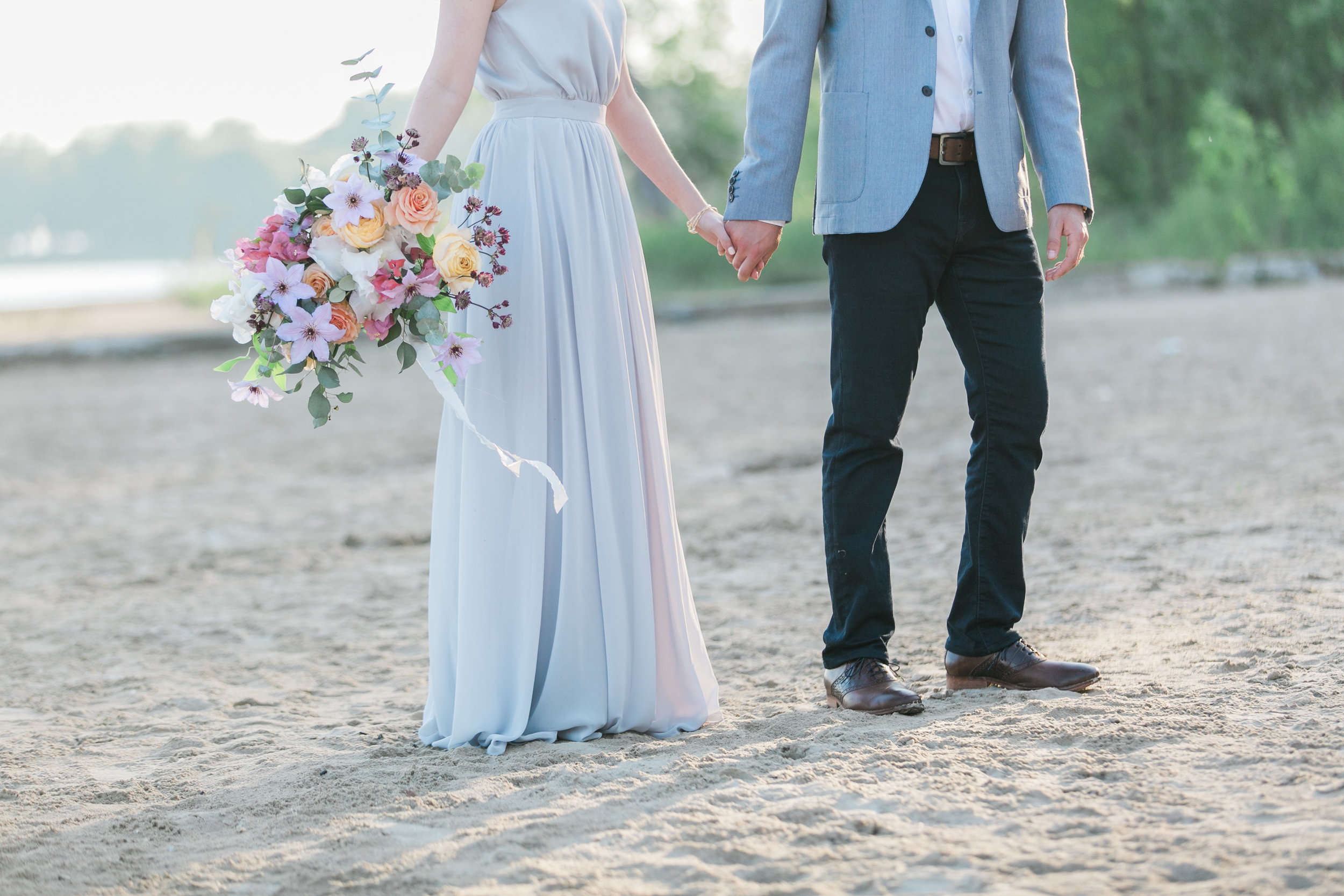 amanda cowley events niagara wedding planner beach engagement session sunset romantic