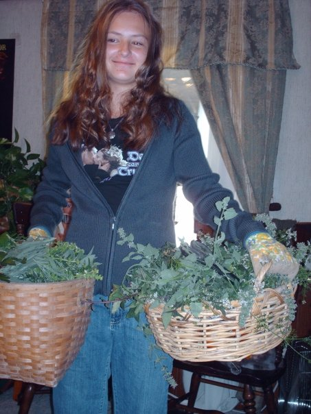 Throwback - Anna Wolfe 2008 coming in from the garden