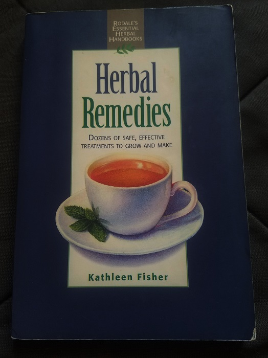 My first herbal remedy book (which I did not steal from the library)