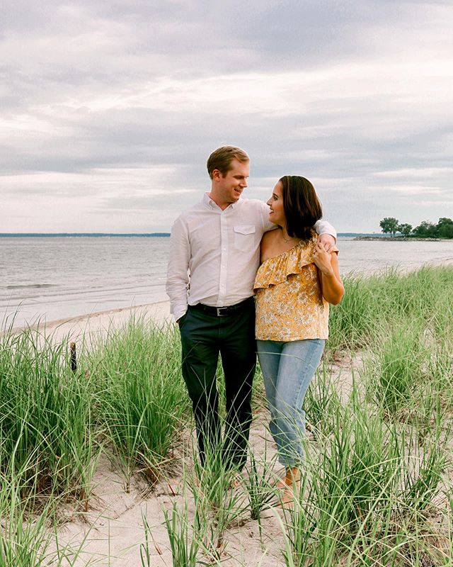 I am currently reminiscing on this perfect beach day. Let the countdown to beach session begin! Happy Autumn Everyone! #engagementphotos