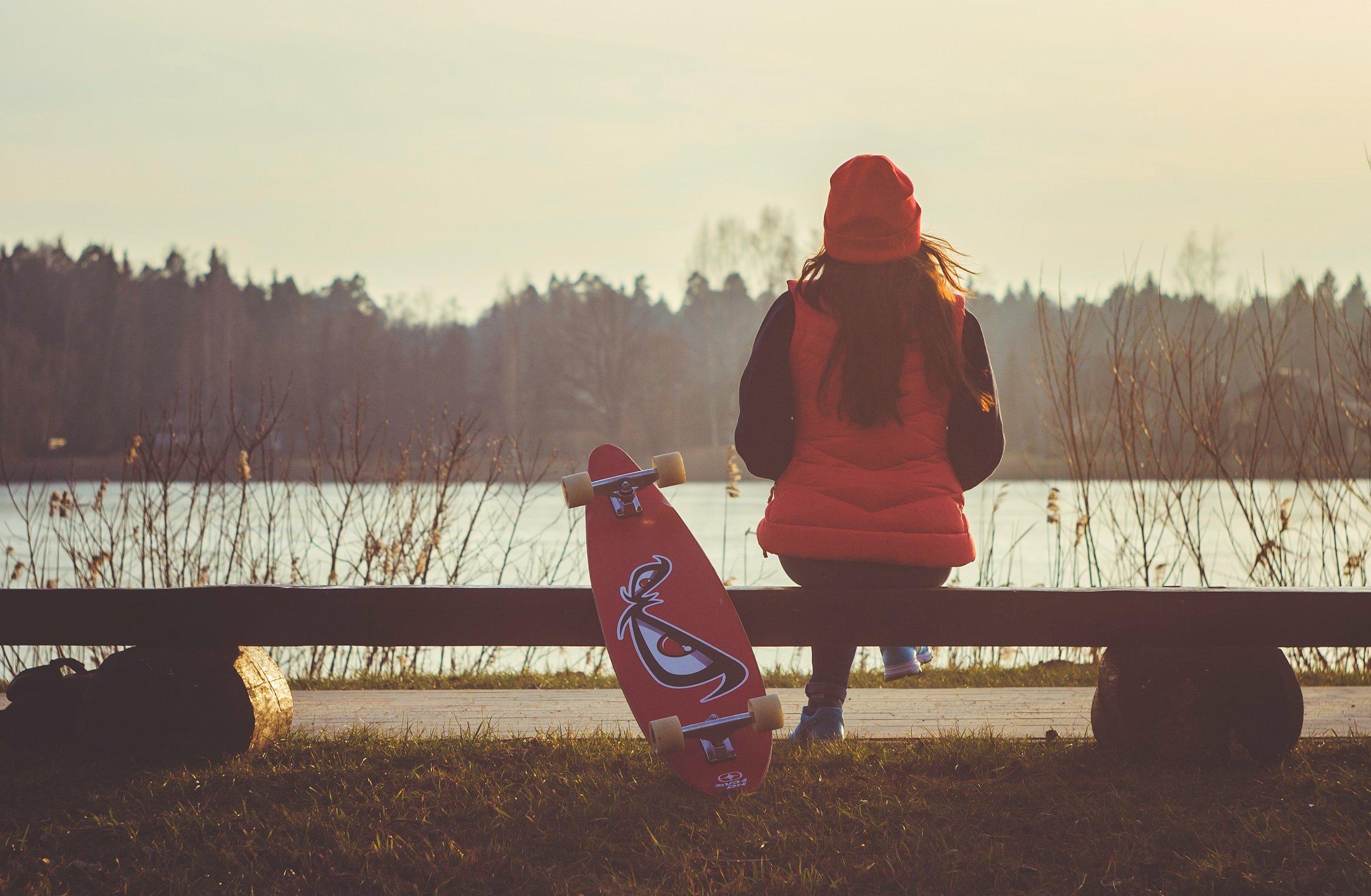 """""""Longboarding by the Lake"""" Photo by  Jevgenij Voronov"""