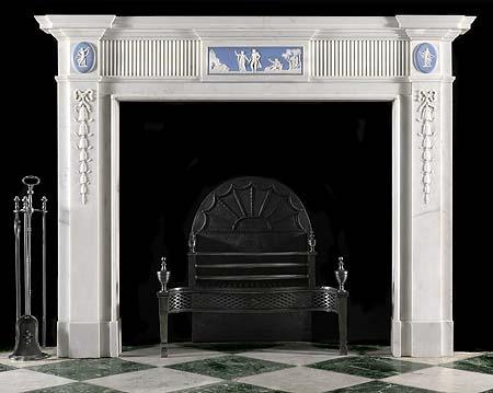 English Wedgwood marble fireplace
