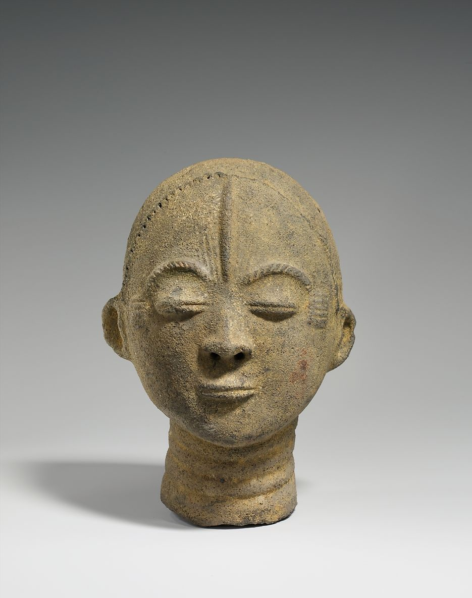 Memorial Head, Akan Peoples, 17th - Mid 18th Century. In much of Africa, clay is an artistic medium primarily associated with women.