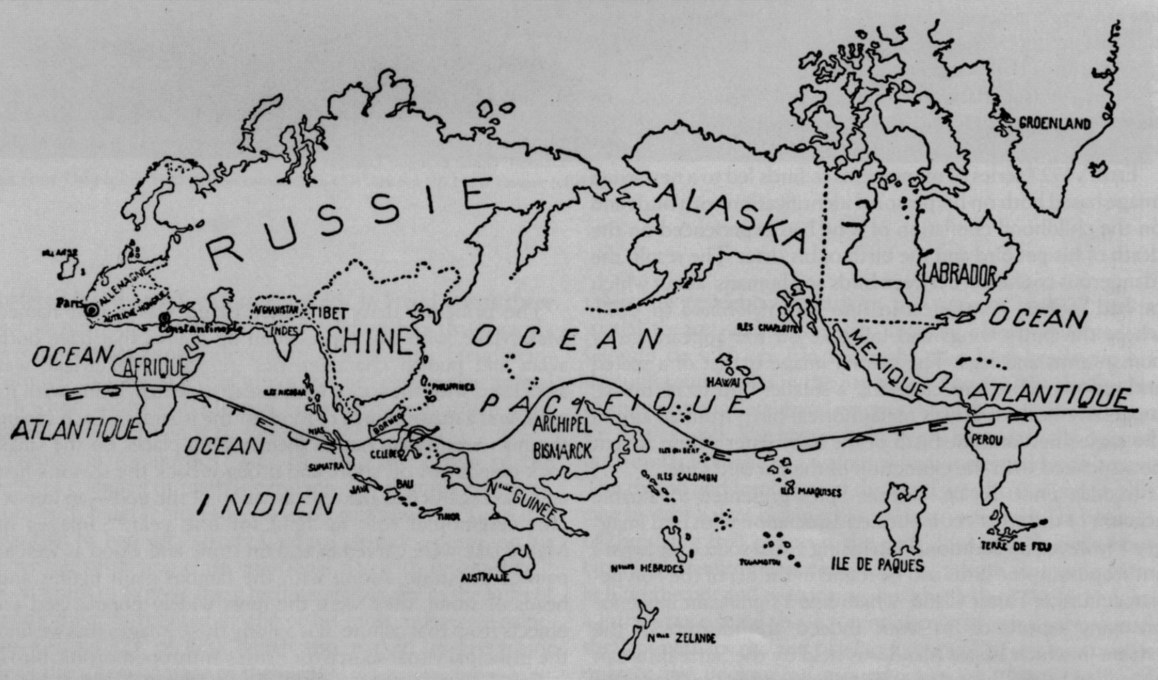 Surrealist Map of the World, First Published in 1929