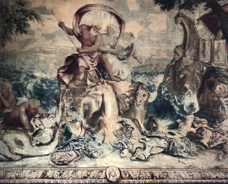 A Gobelins tapestry representing Neptune.