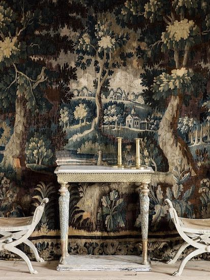 An Early 18th Century Flemish Verdure Tapestry. Photo: D Larsson Interior