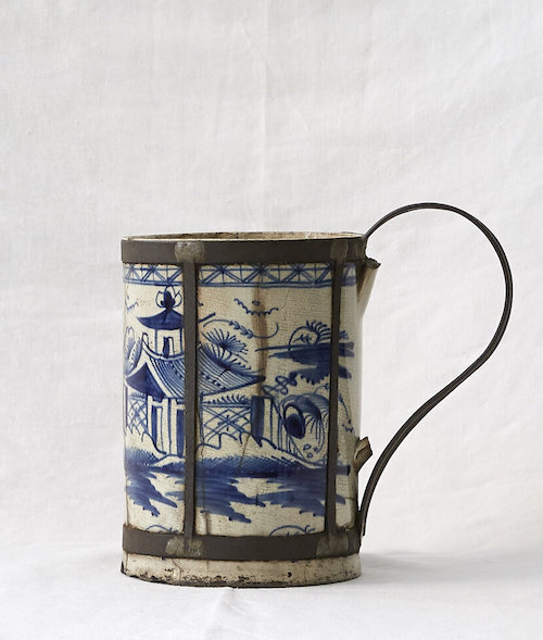 An 18th Century  make-do Delft tankard  from our collection.