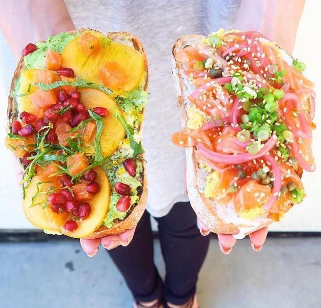 Fruit Toast, Salmon Toast @paulineenawin