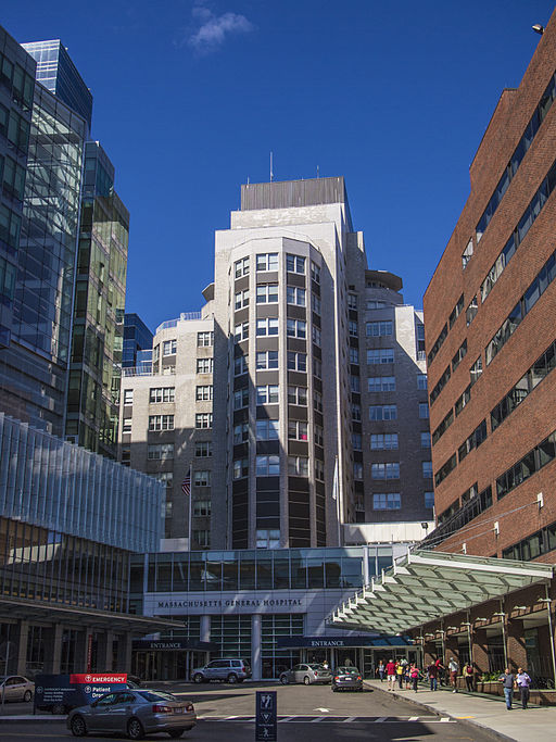 An Image of Massachusetts General Hospital in Boston. - Photo Credit: Tom Austin from Wikimedia Commons