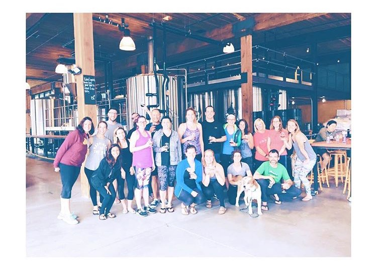 Beer + Yoga = so much fun.