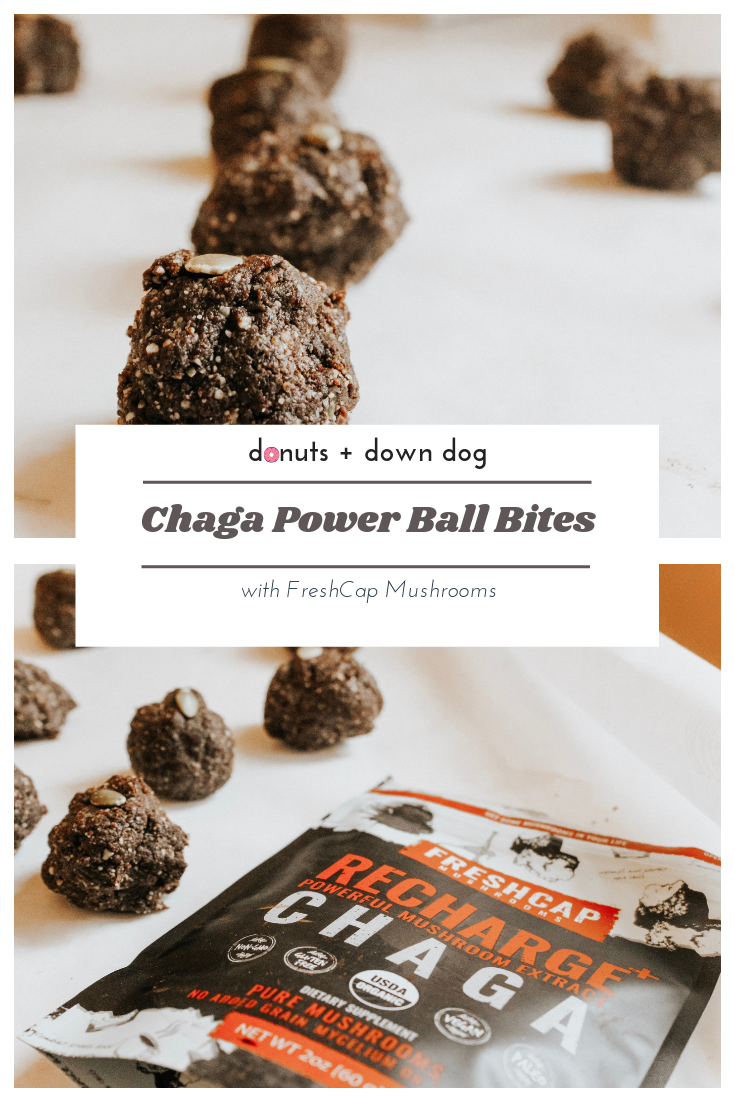 Everybody is making chaga lattes, but have you had a Chaga Power Ball Bite yet?