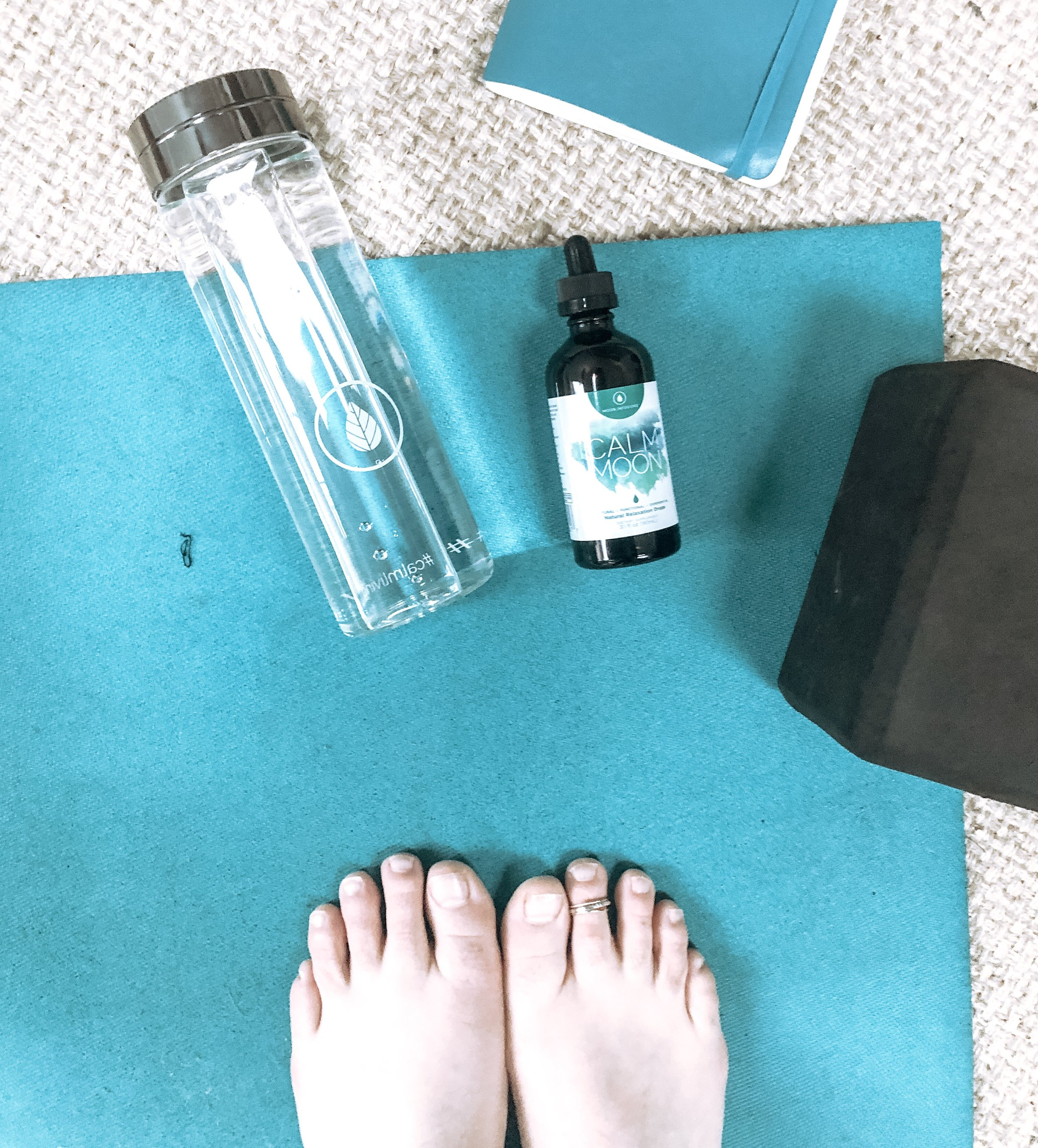 I like to  Calm Moon Drops    solo or right before a mellow yoga class to help me  really  chill out.