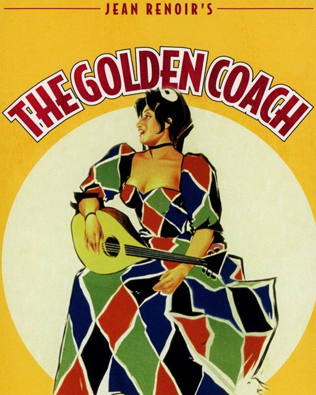 "Today marks the first night of our series ""Pauline's Picks."" We'll be showing 5 films from Pauline Kael's Cinema Guild's 1956 lineup every other Tuesday this summer. Tonight we'll be screening Renoir's ""The Golden Coach."" Doors open at 7:15, film starts at 7:30! Come on by to The Pauline Kael-Jess Murals house was to lose it at the movies!"