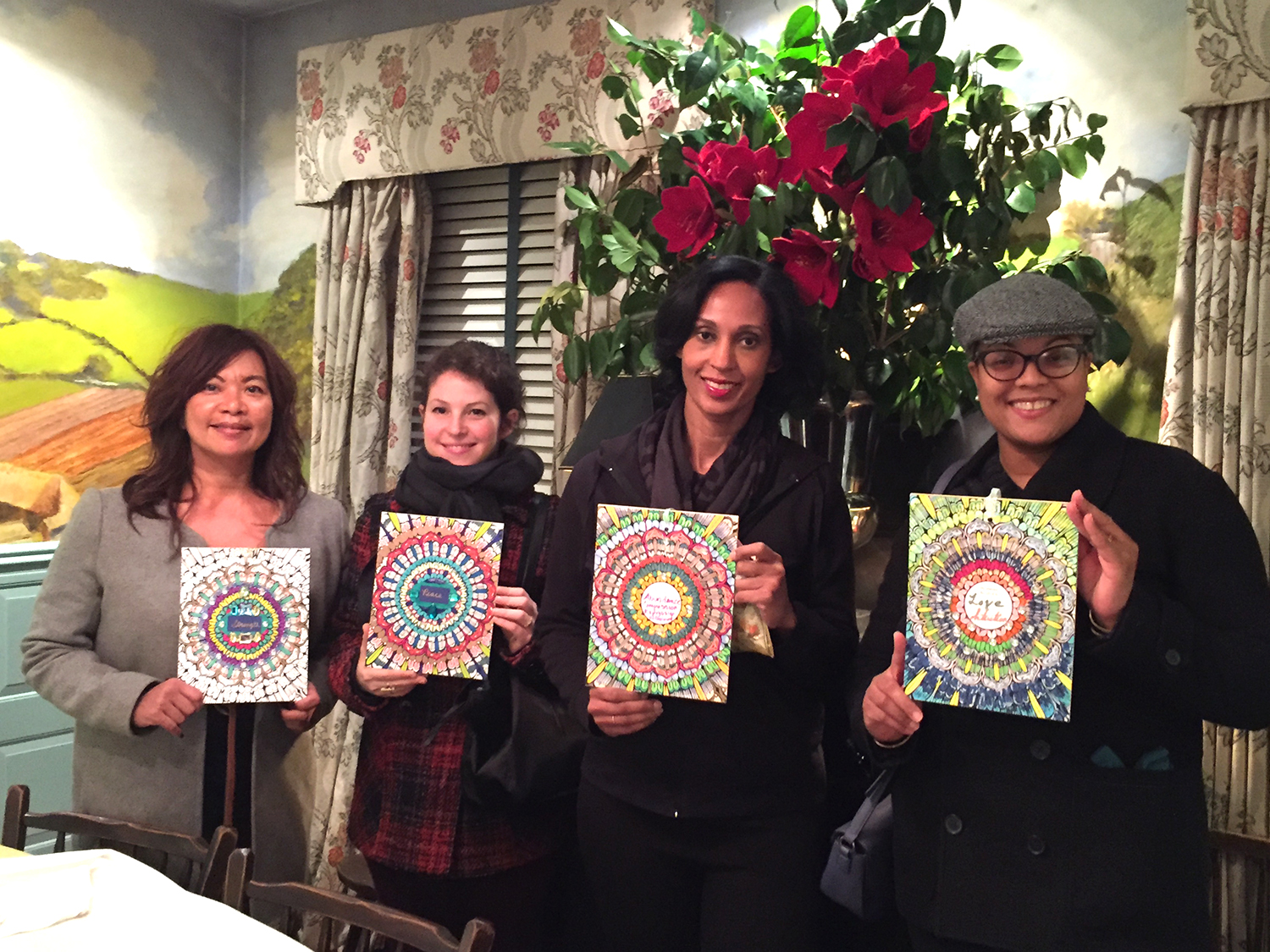 Moondalas & Magic - On this powerful new moon, we gathered to set our intentions for the New Year, grounding with a relaxing meditation, playing with markers & glitter, and enjoying a delightful afternoon tea service at the beautiful King's Carriage House in NYC.