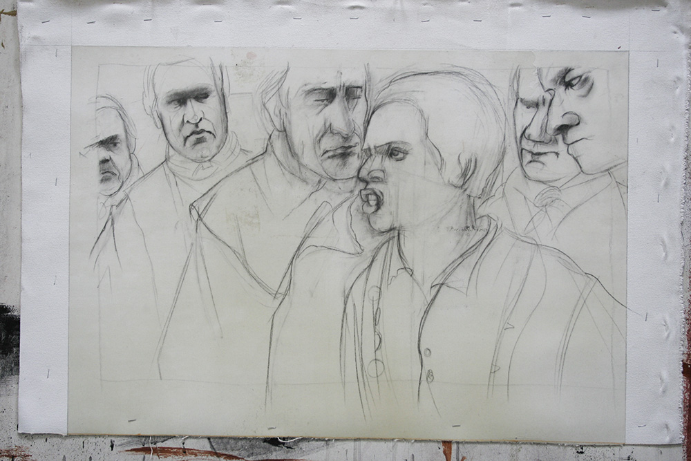 John Adams: In the Courtroom drawing (personal project)