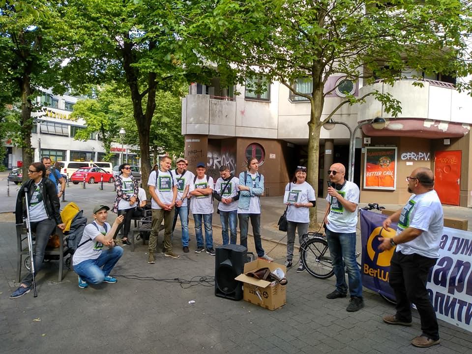In Berlin SDP was held raising issues of the Russian drug using community.