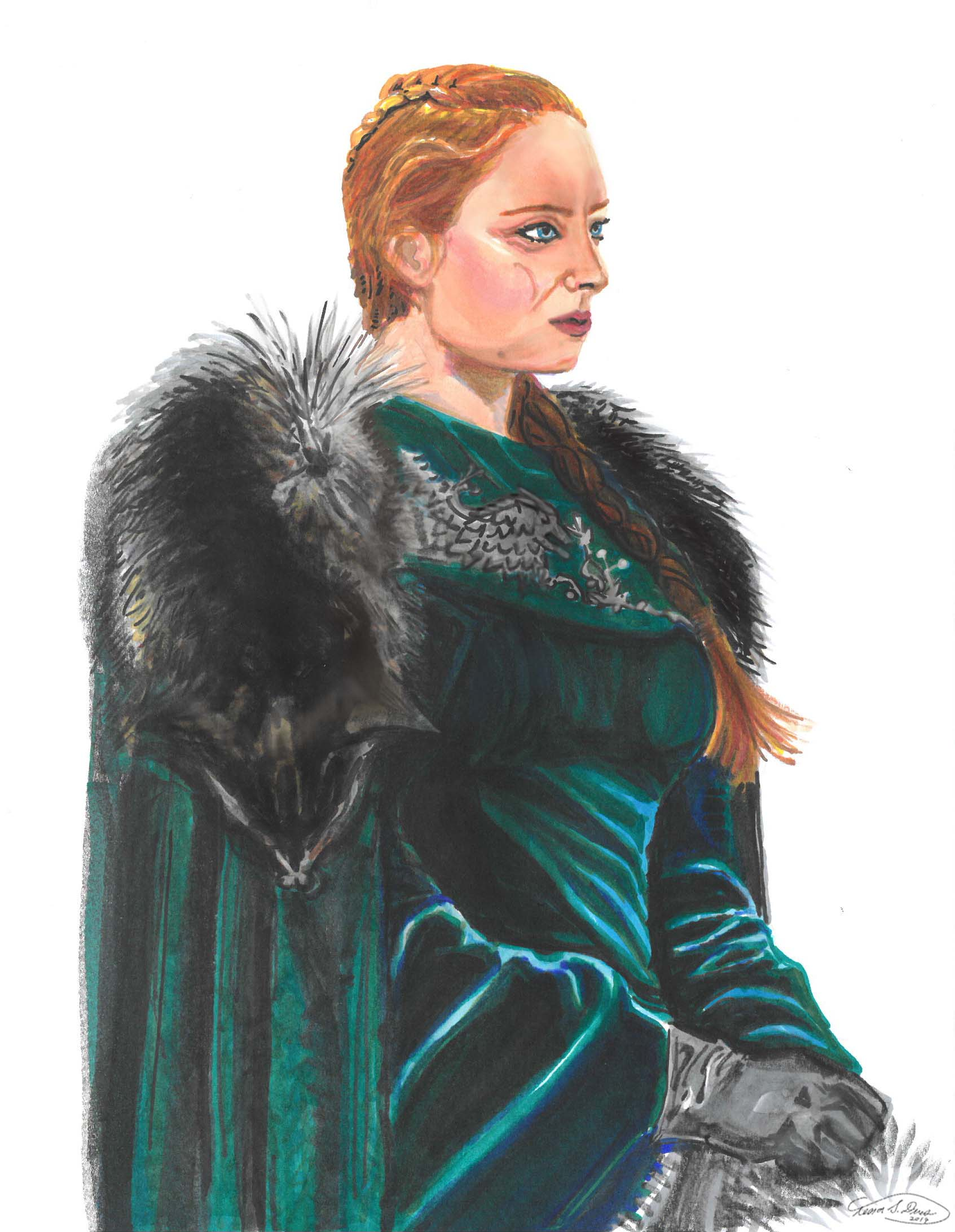 sasna lady of wnterfell drawing by tessa dines.jpg