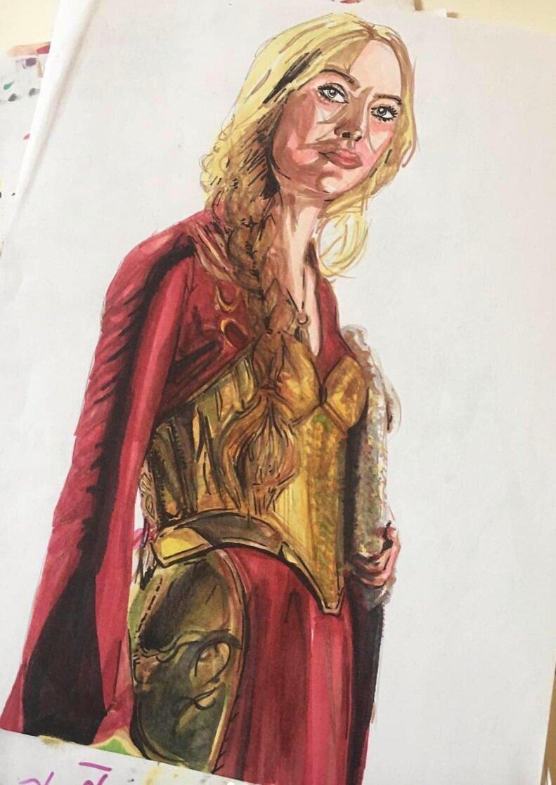 Cersei+drawing+in+progress+Tessa+Dines.jpg