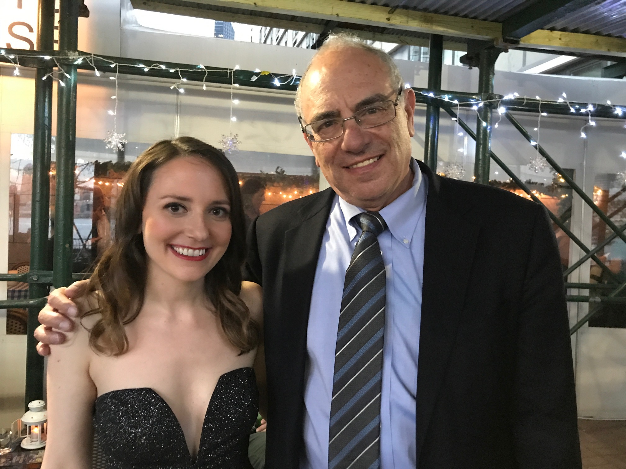 With the director, Howard Weiner.